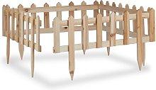 Hucksley 0.6m x 3.2m Border Fencing Sol 72 Outdoor