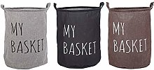 HUDEMR Basket Laundry Three-color Cotton and Linen