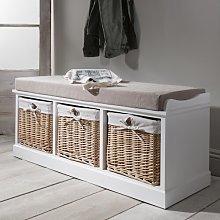 Hudson Oaks Upholstered Storage Bench Beachcrest