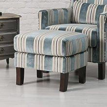 Hudsonville Footstool Rosalind Wheeler Upholstery