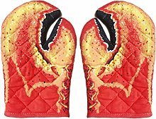 Huemny Lobster Claw Oven Mitts Quilted Cotton