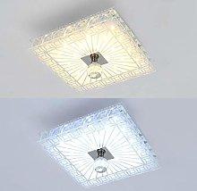 HUEP Crystal Chandelier Ceiling Light, Modern Mini