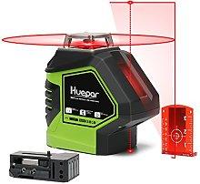 Huepar 360 Cross Line with 2 Plumb Dots Laser