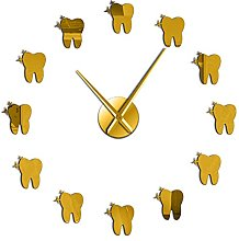 hufeng Wall Clock 12 Teeth Sticker Dental Tooth