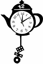 hufeng Wall Clock Creative Kitchen Clocks Teapot
