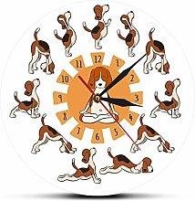 hufeng Wall Clock French Bulldog Diy Wall Clock