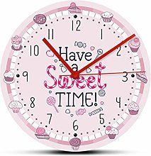 hufeng Wall Clock Have A Sweet Time Desserts Theme