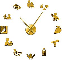 hufeng Wall Clock Healthy Eating Nutritionist Wall