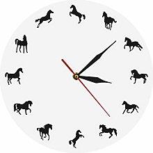 hufeng Wall Clock Horse Silhouette Wall Clock