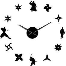 hufeng Wall Clock Japan Ninja Diy Wall Clock