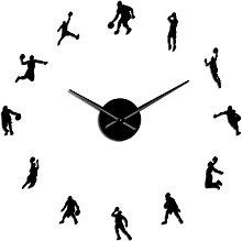 hufeng Wall Clock Roman Arabic Numerals Mixed Diy