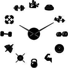 hufeng Wall Clock Sports Gym Equipment Diy Wall