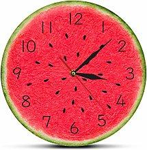 hufeng Wall Clock Summer Time Watermelon Modern