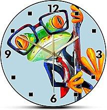 hufeng Wall Clockabstract Frog Wearing Sunglasses