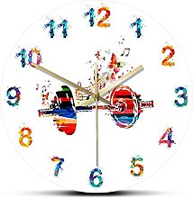 hufeng Wall Clockcolorful Dumbbell And Butterflies