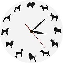 hufeng Wall Clockdifferent Dog Breeds Wall Clock