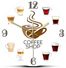 hufeng Wall Clocktypes Of Espresso'S Cup