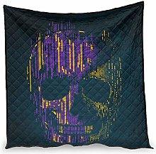 Huffle-Pickffle Purple Skull Air Conditioner Quilt