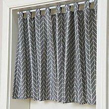 HUFT disc curtain cotton checkered bistro curtain