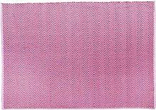 Hug Rug Woven Herringbone Coral Pink
