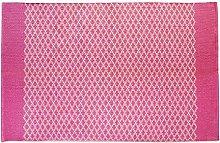 Hug Rug Woven Trellis Coral Pink