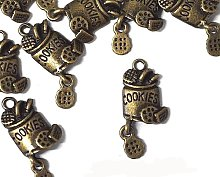 *HUGE CHARMS SALE!* 6 x Antique Bronze 'COOKIE