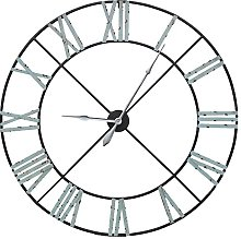Huge Extra Large Vintage Metal Skeleton Wall Clock