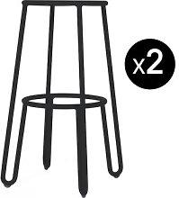 Huggy Bar stool - / H 75 cm - Set of 2 by Maiori