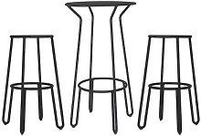 Huggy High table - / + 2 bar stools - H 75cm by