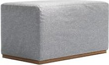 Hugo Small Rectangular Footstool in White Cliffs