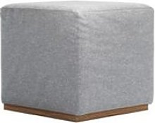 Hugo Small Square Footstool in White Cliffs