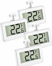 hugttt 4 Pack Fridge Thermometer Refrigerator