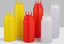 Huien 1 Piece 3 Hole Squeeze Bottle Plastic Oil
