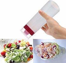 Huien 4-Hole Plastic Salad Dressing Squeeze Bottle
