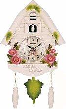HUIHUI Cute Bird Wall Clock Cuckoo Alarm Clock,