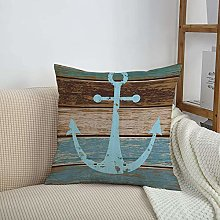 HUIHUIXIANG Throw Pillow Cases,Anchor by,Boat