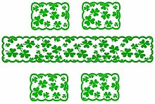 huiingwen Saint Patrick's Day Table Runner and