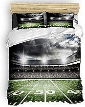 HUIJIE Bedding 4 Piece Bedding Set - Football