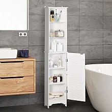 HUIJK 165cm Freestanding Slimline Bathroom Storage
