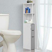 HUIJK Bathroom Cabinet Side Tall Storage Unit