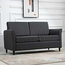 HUIJK Double Seat Sofa Compact Loveseat 2 Seater