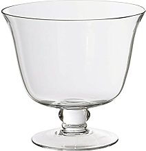 HUIJK Large Clear Glass Trifle Bowl Desert Footed