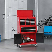 HUIJK Portable Toolbox Tool Top Chest Box Rollcab