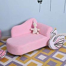 HUIJK Velvet Chaise Longuer Kids Sofa Daybed