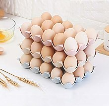HUIJUNWENTI Fridge Egg Storage Box 15-Grid Plastic