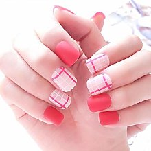 HUIL False Nails Fake Nails Square Metallic Nail