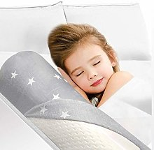 HUIQ® Memory Foam Baby Bed Guard Rail for Toddler