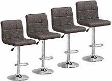 Huisen Furniture Bar Stools Chairs Set of 4 Grey