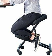 Huisen Furniture Black Adjustable Office Kneeling