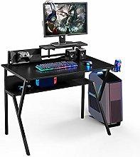 Huisen Furniture Black Computer Desk Table